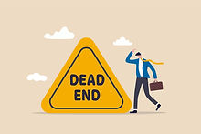 businessman career dead-end