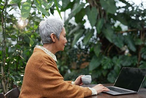 Senior lady on computer