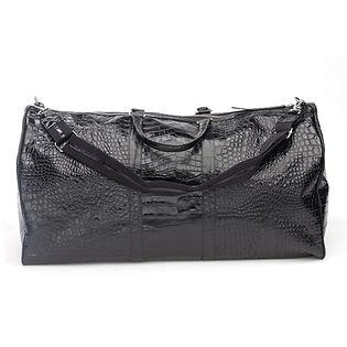 BLACK CROC DUFFLE BAG