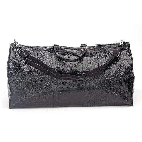 BLACK CROC DUFFLE BAG