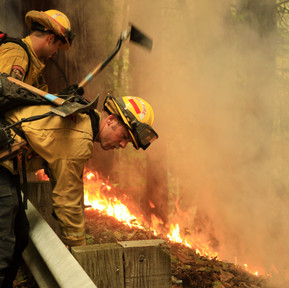 Fighting the blaze