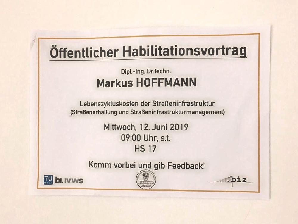 Ankündigung Habilitationsvortrag Hoffmann