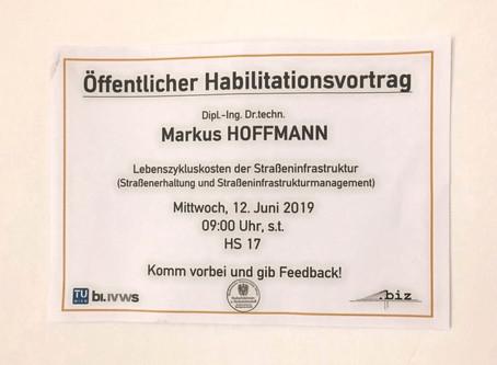Habilitation as Adjunct Associate Professor (PD) at Vienna University of Technology (EN)
