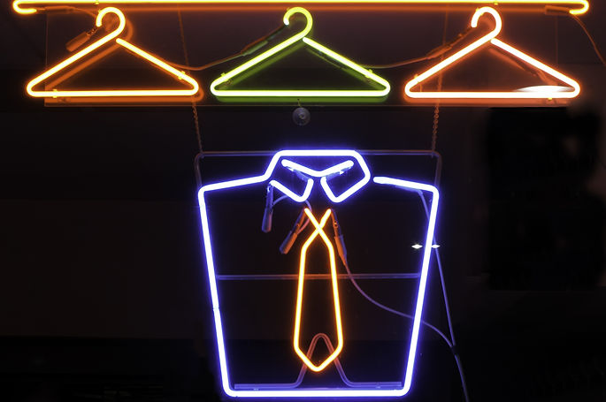 Neon sign in window of cleaners.jpg