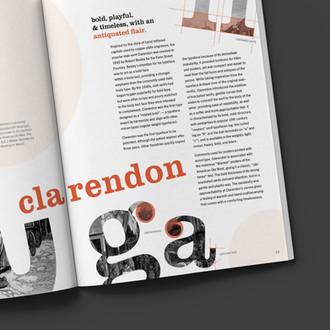Clarendon: Typeface Magazine Spread