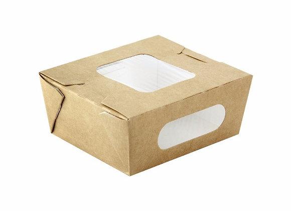 SALAD BOX WITH WINDOW HT 95X110MM BAS 98X84MM HT 45MM