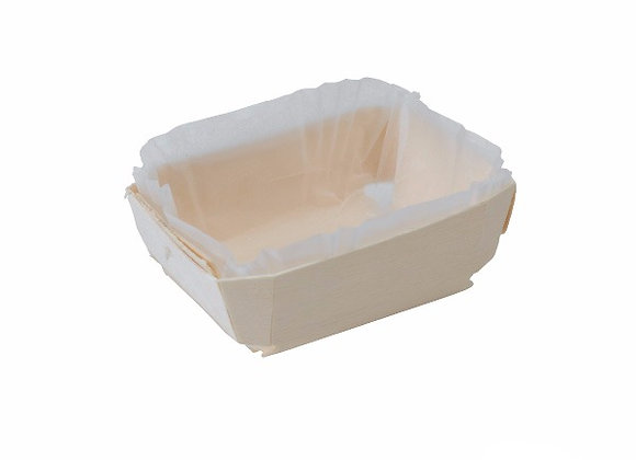 WOODEN BAKING MOULD WITH - 115x65x33mm / Base 84x40mm