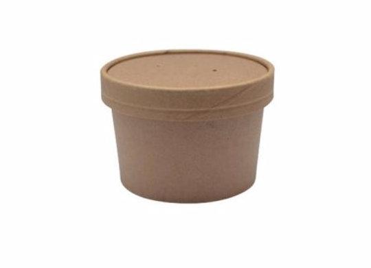 Combo Kraft Soup Cup + Lid - 8 oz