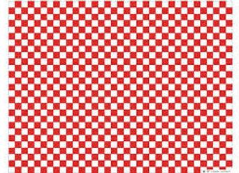 White semi parchment paper with red checks in dispenser box - 350 x 270 mm