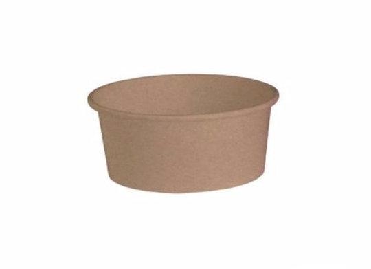 Round kraft salad box - 750 ml -Diam: 150 mm, H: 60 mm