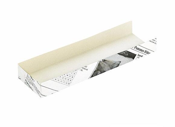 Cardboard Hot Dog Box With Newsprint Design 180x40x40mm