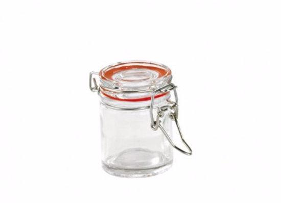 Mini Glass Clear Top Jars 24PCS