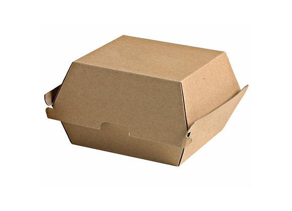 BROWN KRAFT HAMBURGER BOX - 145x135x82mm
