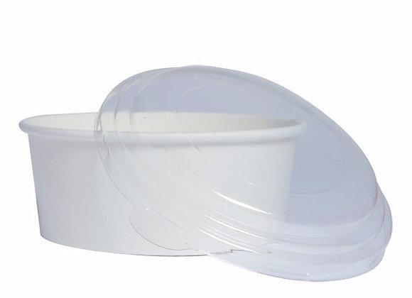 Round White Salad Box - 700 ml