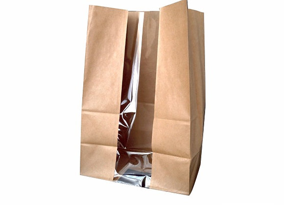 Brown SOS Bag with Window 180x110x265mm
