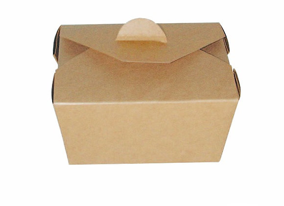 Brown Board Meal Box 215x160x90mm, 2300ml, 77oz