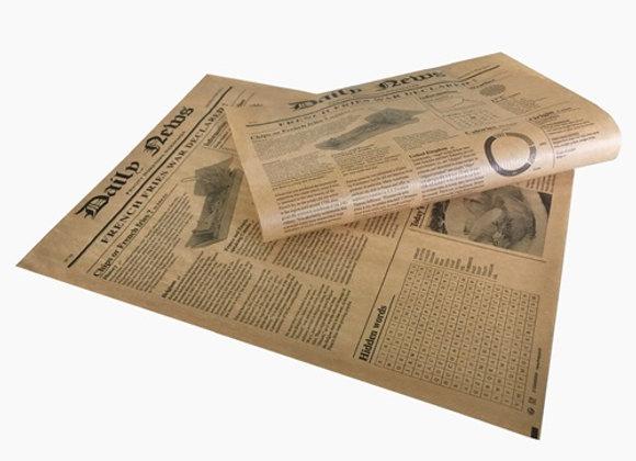 NEWSPAPER PRNT BROWN SHEET 35.0 x 27.0CM