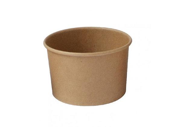 Kraft Paper Cup 180 ml - 6 oz - Diam 90 - H 55 mm
