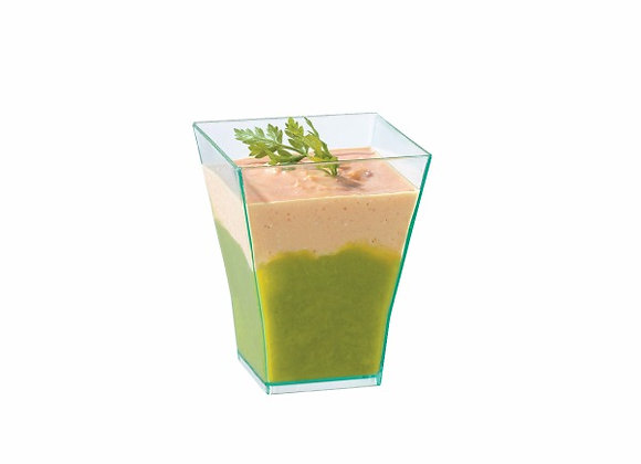 Taiti Clear Square Cup 60 ml - Top: 45x45mm / Base: 25x28mm / H55mm
