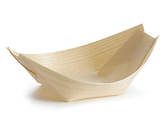 Mini Wooden Boat - 130x80mm - Base:70x50 / H20mm � 103ml