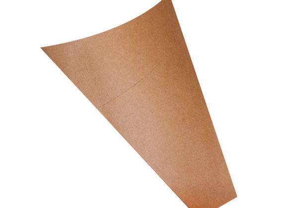 Triangular kraft cardboard crepe pocket- L:130mm