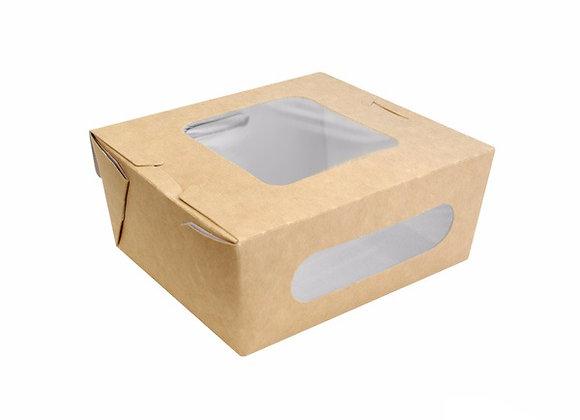 SALAD BOX WITH WINDOW - HT 155X118MM BAS 140X100MM-HT 53MM