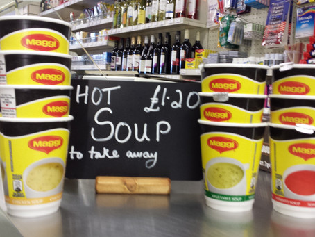 Winter warmers - hot soup to takeaway