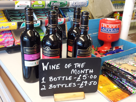 Wine of the Month - two for £9.50
