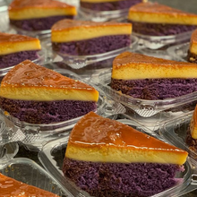 Ube Custard Cake