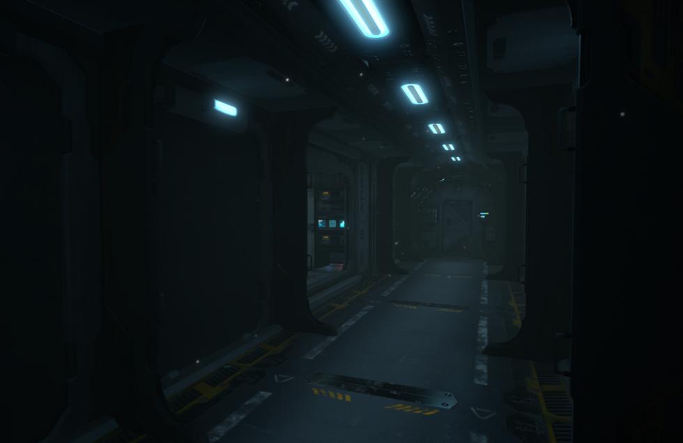 Sci-Fi Bedroom Corridor