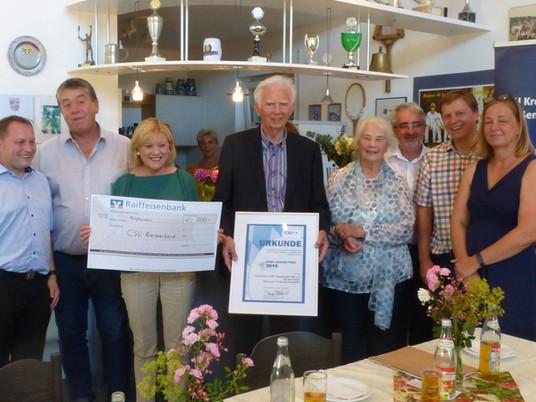 Die Abteilung Tennis erhält den Ernst-Lechner Preis 2019