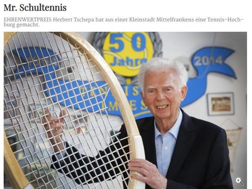 Mr. Schultennis Herbert Tschepa