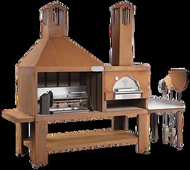 Barbecue in Acciaio Cor-Ten con Forno.pn