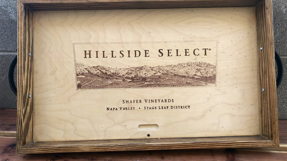 Hillside Select Wine box Serving Tray with Handles