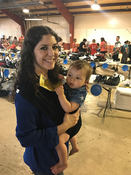 Baby's First Volunteer Opportunity: The Hearts and Hands Shoe Drive