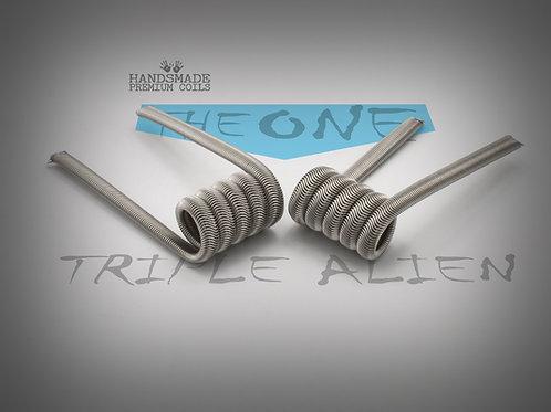 Handmade alien coils - The One Blue Triple Alien