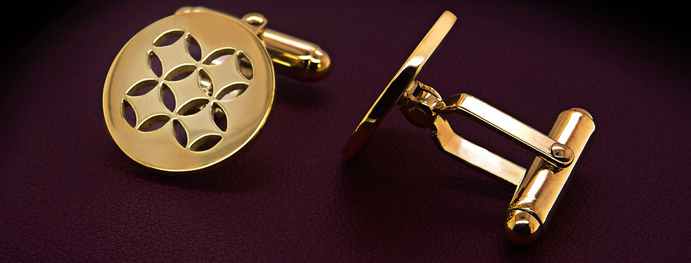 C&D 9ct Gold Cuff links