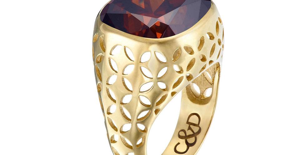 Manhattan C&D Bezel  Set Ring 9ct Gold
