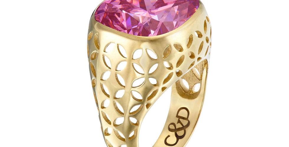 Cosmo C&D Bezel  Set Ring 9ct Gold