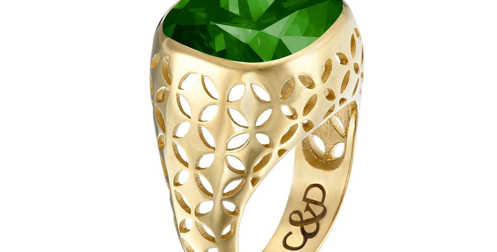 C&D Mojito Bezel  Set Ring 9ct Gold