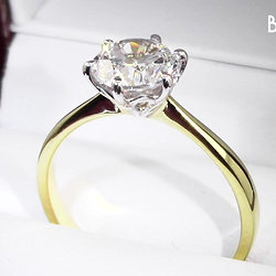 1.27ct Six Claw Solitaire Diamond Ring