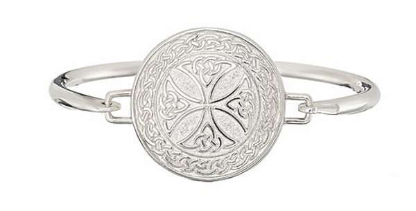 Sterling Silver Shield Bangle