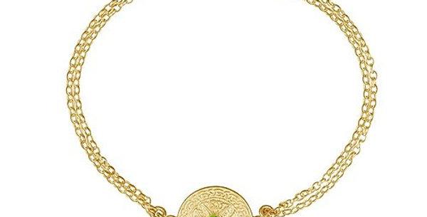 10ct Yellow Gold Emerald Shield Bracelet