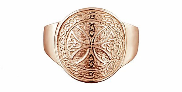 10ct Rose Gold Shield Ring