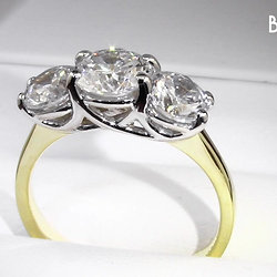 2.00ct Trilogy Diamond Engagement Ring