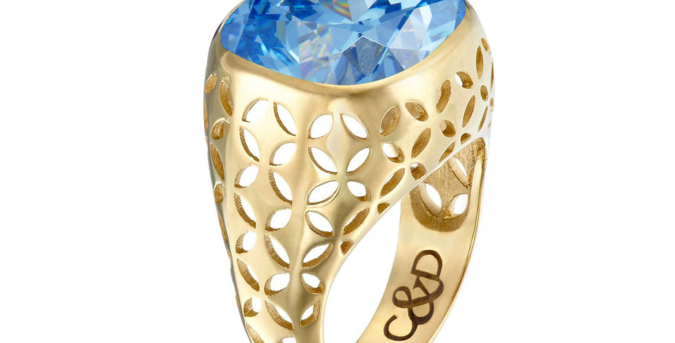 Bombay C&D Bezel  Set Ring 9ct Gold