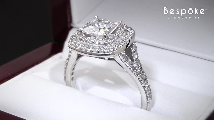 Tiffany Style Halo Diamond Ring