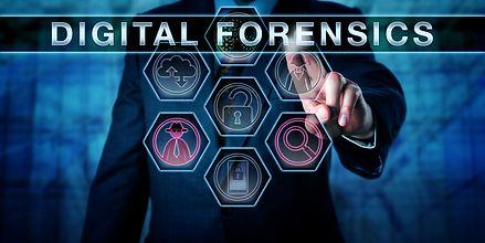 Male cyber crime investigator pressing D