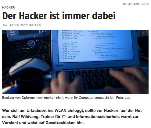 Ralf Wildvang zu Cyber-Angriffen