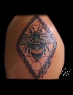 Queen Bee Tattoo By @Peekotattoos